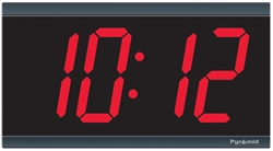 Electric Digital Wall Clock - 4' 4-Digits - Syncronized to NTP Time