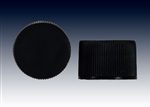20-410 black ribbed with F-217 liner, screw caps-plastic bottle closure samples - Product Code: 20-410-BC-BR-F2-Sample