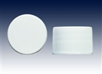 20-410 white ribbed unlined screw caps-plastic bottle closure samples - Product Code: 20-410-BC-WR-UL-Sample