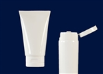 Plastic Squeeze Tubes on Demand White 4 oz. MDPE Tube with white Flip Top Cap and with Al seals on the orifice.