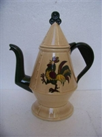 Coffee Pot Metlox California Provincial Green Rooster