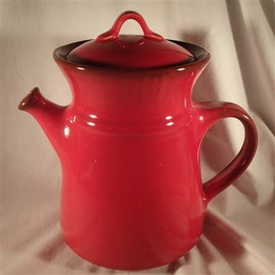 Coffee Pot & Lid #400 Metlox Flamenco Red