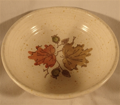 Fruit Bowl #210 Metlox Poppytrail Woodland Gold
