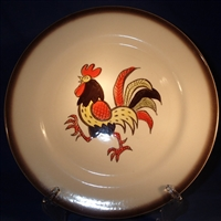 Dinner Plate Metlox Red Rooster
