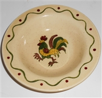 Fruit Bowl California Provincial Green Rooster