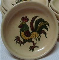 Coaster (Butter Pat) California Provincial Green Rooster