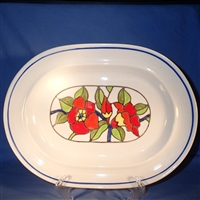 Large Oval Platter #00317 Moulin (FKA Moulin Rouge)