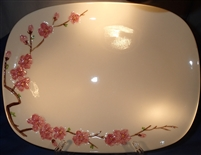 Platter-Large Oval #2217 Metlox California Peach Blossom