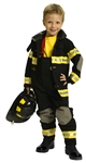 Fire Fighter Suit Black Size 4-6