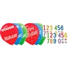 Rainbow Birthday Add Any Age Latex Balloons