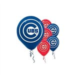 CUBS LATEX BALLOONS - 6 PACK