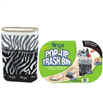 Flings Bin Zebra - Pop-Up Trash Bin