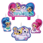 Shimmer And Shine Birthday Candle Set