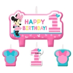 Minnie's Fun to Be One Birthday Candle Set