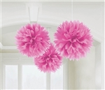 Fluffy Burst Pink Hanging Deco