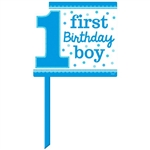 1st Birthday Blue Yard Sign