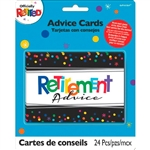 Officially Retired Advice Cards