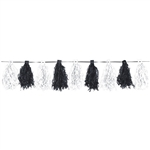 Black & White Paper Tassel Garland