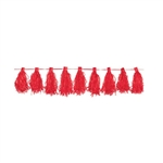 Apple Red Paper Tassel Garland