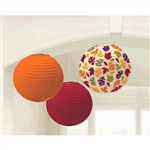 Fall Printed Paper Lanterns 9 1/2in