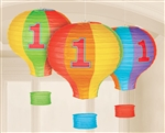 First Birthday Rainbow Hot Air Balloon Lanterns