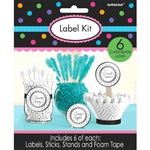 Scalloped Labels Silver Dots Kit