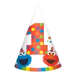 Elmo Turns One Cone Party Hats