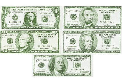 Toy Money Cut Outs : Play money assorted pack bartz s party stores