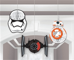 Star Wars VII The Force Awakens Honeycomb Decorations