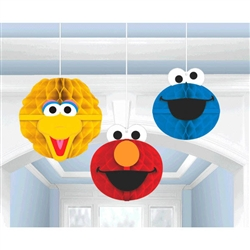SESAME STREET 2 HONEYCOMB DECORATION