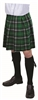 Green Plaid Adult Kilt