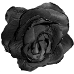 Black Gothic Clip on Flower