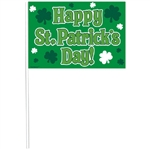 Happy St. Patrick's Day Plastic Flags Value Pack