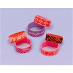 Valentine Day Cuff Band 6 Pack