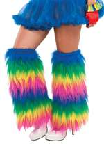 Rainbow Plush Leg Warmers
