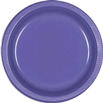 NEW PURPLE 7in PLASTIC PLATES