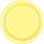 Light Yellow Dessert Plastic Plates 7 inch-20 Ct