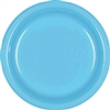CARRIBEAN BLUE 7in PLASTIC PLATES