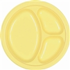 Light Yellow Divided Plastic Plates 10.25 inch-20 ct