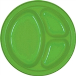 KIWI DIVIDED PLASTIC PLATES 10.25in.-20 CT