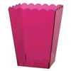 Bright Pink Large Scalloped Container