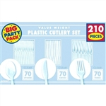 Clear Plastic Cutlery Set - 210 ct.