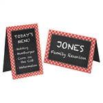 Picnic Party Chalkboard Tent Cards