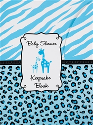 Blue Baby Shower Keepsake Book