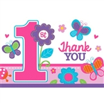 Sweet Birthday Girl Die-Cut Postcard Thank You Cards