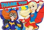 DC Super Hero Girls Thank You Postcards