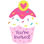Cupcake Party Invitations