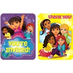 Dora & Friends Invitations and Thank You Cards