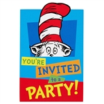 Dr. Seuss Party Invitations