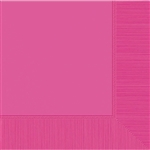 BRIGHT PINK DINNER NAPKINS